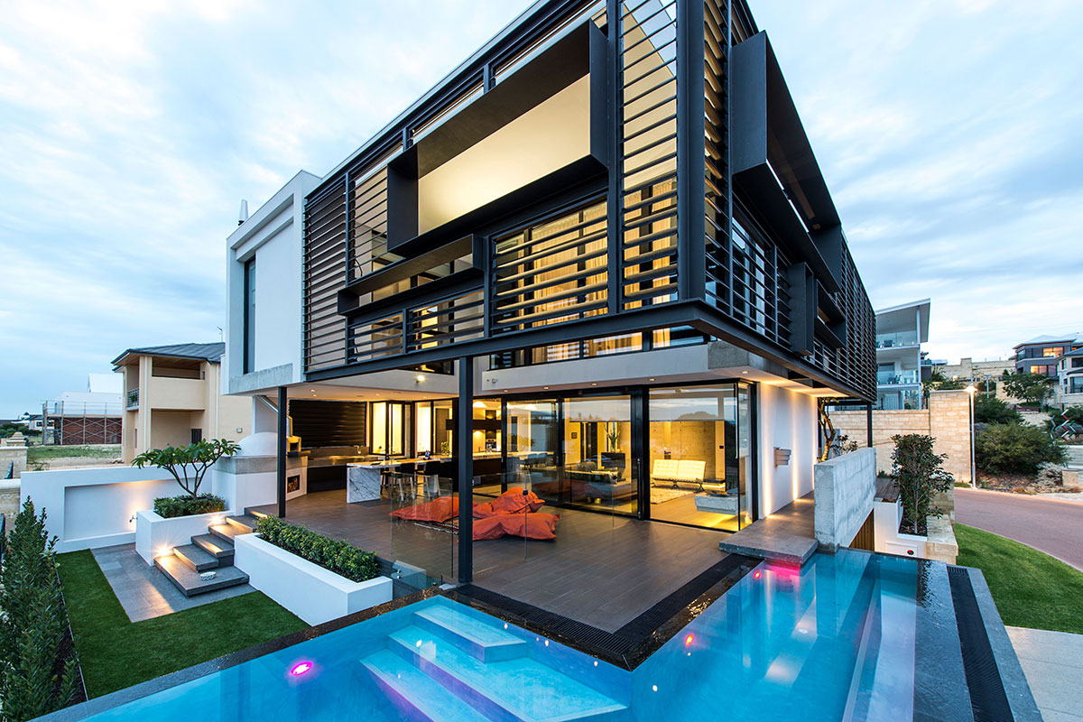 luxury custom two storey home mosman park infinity pool