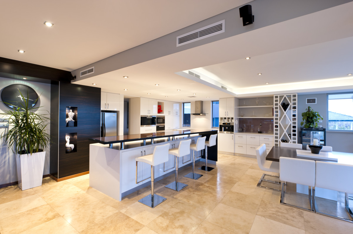 Kitchen Area in Luxury Custom home renovation.