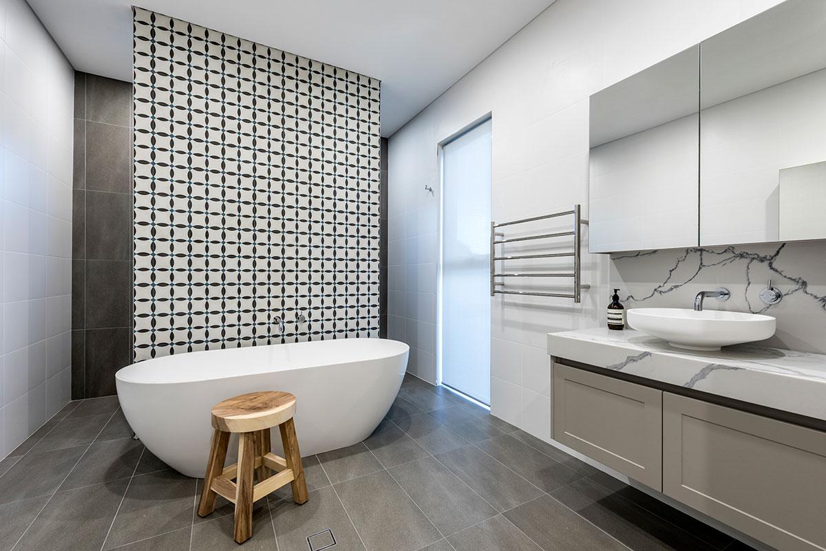 Wow Stunning ensuite bathroom stand alone bathand unique luxury design in this modern claremont display home multistorey